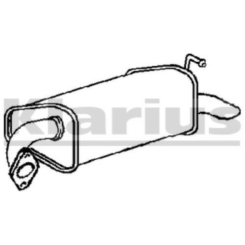End Silencer Exhaust 1x OE Quality Replacement 6 18//20//23 HB//SL//ES 3//02 0 Rear