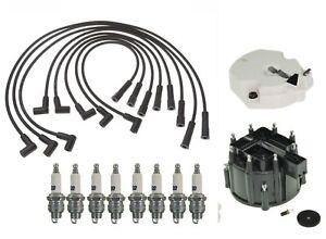 Distributor Cap//Rotor//Spark Plugs//Spark Plug Wires Kit fits 94-99 Cherokee 4.0L
