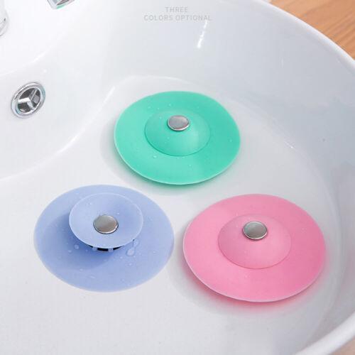 2PCS Rubber Bath Tub Sink Floor Drain Plug Kitchen Water Laundry Stopper Cap LA