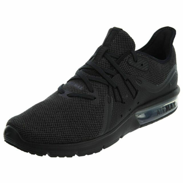 be3d6e77e9540 Nike Air Max Sequent 3 Running Shoes Black Anthracite 921694-010 Men's NEW