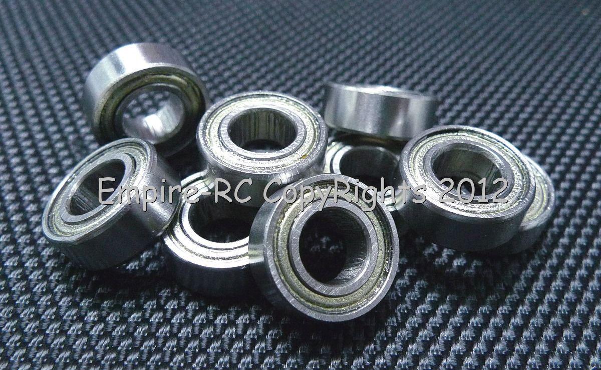 (50 PCS) (R188 ZZ) (6.35x12.7x4.76mm) Double Metal Shielded Ball Bearing