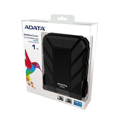"""ADATA DashDrive HD710 Waterproof USB 3.0 1TB 2.5"""" External Hard Drive - Black"""