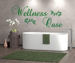 Details zu Wandtattoo Wand Aufkleber Wellness Oase Badezimmer Schlafzimmer  Sauna Bad