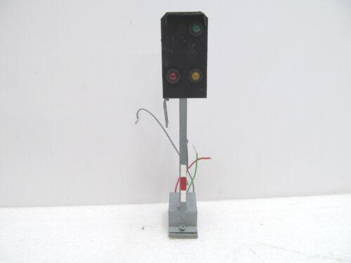 MES-49831 Spur 0 Lichtsignal Metall H:ca 150mm mit Gebrauchsspuren,