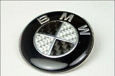 BMW Logo Emblem 45 mm Sticker Carbon Fiber Steering Wheel Car Metal Auto Badge