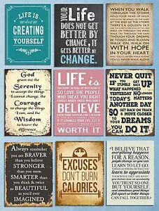 metal sign plaques vintage quotes retro motivation home