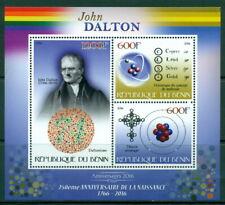 2016 250th birth anniversary John Dalton M/S 3 values Chemistry Physics Science
