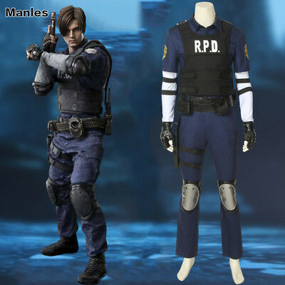 Kennedy R.P.D Cosplay Costume Resident Evil 2 Uniform Set Leon S