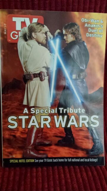 LOT OF (2) TV Guide Magazines (May 1-7, 2005) STAR WARS SPECIAL TRIBUTE!!!***