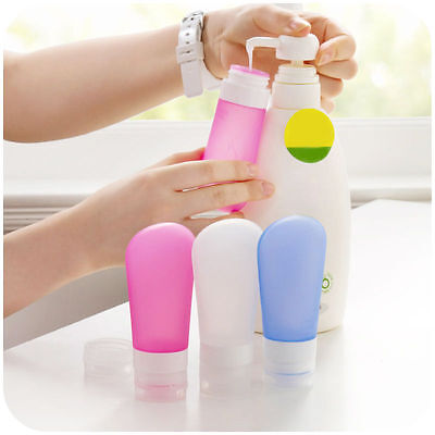 Travel Silicone Bottles Shampoo Shower Lotion Sub-bottling Squeeze Tube 3 size