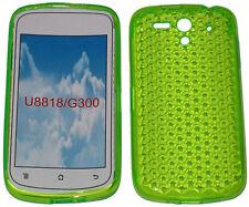 Patrón cubierta suave Gel caso Protector Verde para Huawei Ascend U8818 U8815 G300