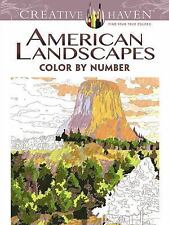 Adult Coloring: Creative Haven American Landscapes Color by Number Coloring Book by Diego Jourdan Pereira (2015, Paperback)