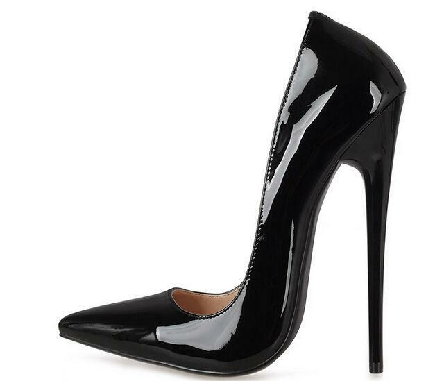 f92190f8428 Womens Super High Heel 16cm Pumps Pointed Toe Stilettos Patent Leather Shoes