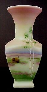 Fenton-Lotus-Mist-Burmese-Vase-Presidents-Collection-Family-Sig-100th-Anniversa