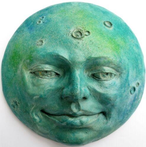 Original Jade Full Moon Collectible Sculpture Calming Wall Decor by Claybraven