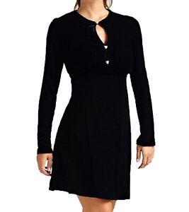 GUESS Mini-Kleid weiches Samt-Kleid mit Leoparden-Knöpfen ...
