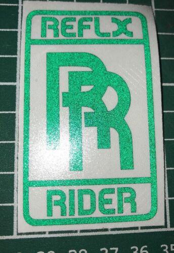 1 Vert reflx Rider réfléchissant autocollant bikelife vélo moto casque Bright