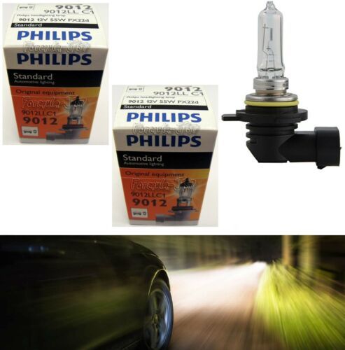 Philips Standard 9012 HIR2 55W Two Bulbs Head Light Dual Beam Replacement Lamp