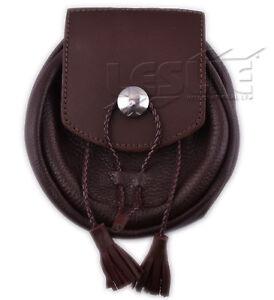 LI-SCO-0058 Mens Real Leather Sporrans color BLACK