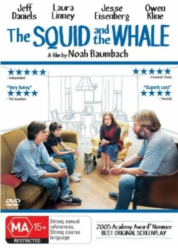 1 of 1 - The Squid And The Whale (DVD, 2006) R4 BRAND NEW SEALED - FREE POST!