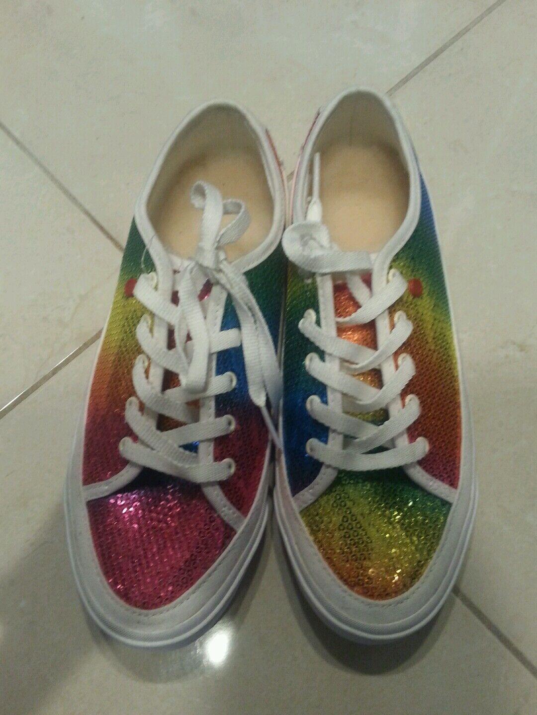 NOUVEAU UGG Rainbow Sparkles I - Baskets à lacets Heart I - US 6 / UK 4.5