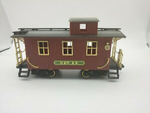 New-Bright-Holiday-Train-G-scale-Plastic-D-amp-W-RR-Denver-Express-Caboose
