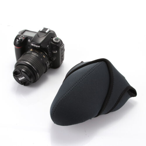 Suave cámara bolsa caso bolsa para Nikon D3000 D5000 D5300 D60 18-55mm Protector De Lente