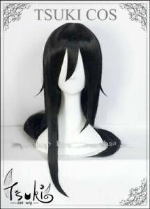 Sword Art Online 2 Phantom Bullet Kirito Wig Black long Cos Prop + Free Hairnet