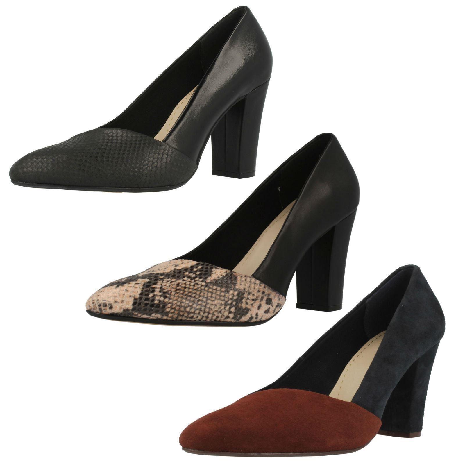 Ladies Clarks High Heel Court Shoes 'Babble Brook'