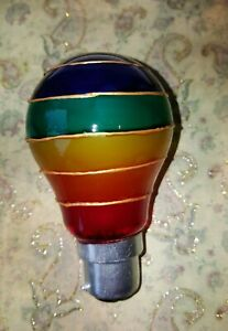 Details About Hand Painted Rainbow Light Bulbs Designer Stained Glass Disco Party Chill Kids