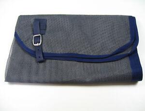 Mouches-Couverture-Abschwitzdecke-nylon-145-cm-Gris-Avec-Bleu-reliure