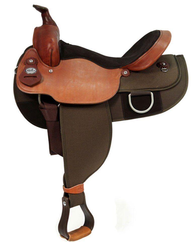 "Fabtron Draft Horse Cordura Saddle Brown Lightweight 16"" or 17""  NEW  7182 7184"