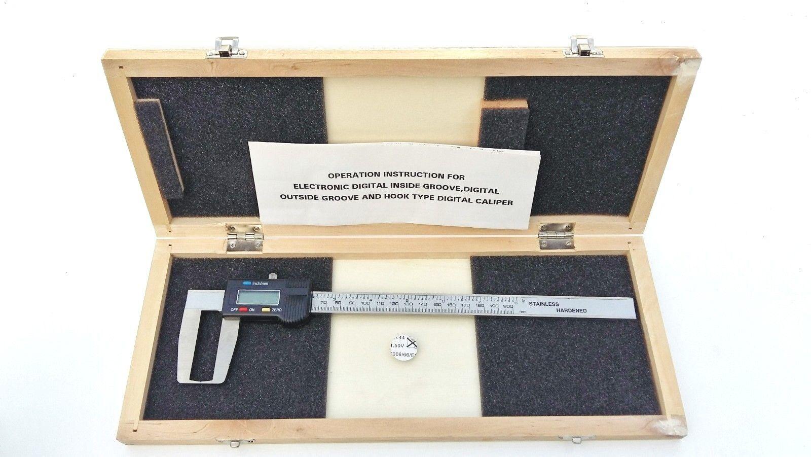 Calibro Digitale Esterno Gola & Gancio Tipo Tipo Tipo 0-200mm 20.3cm | Exit  | Miglior Prezzo  | tender  6b5056