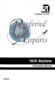 Cessna 182S Pilot Information Manual PN 182SIM for 1997 and Later Models
