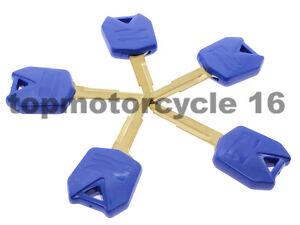 5pcs-Blue-Motorcycle-Blank-Key-Uncut-Blade-For-Kawasaki-ZR750-ZEPHYR-1991-1993