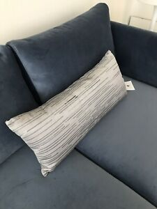 Hotel-Collection-Colonnade-Dusk-12-034-x-26-034-Embroidered-Decorative-Pillow-Gray