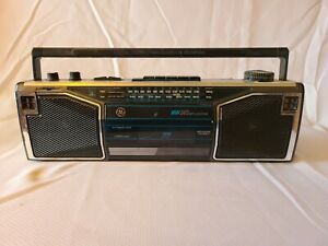 vintage cassette boombox and radio
