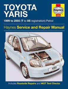 toyota yaris 1 0 1 3 1999 2005 haynes manual 4265 new ebay rh ebay com Toyota Yaris Antenna Toyota Yaris Antenna