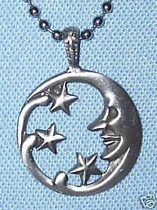 MOON-amp-STARS-PEWTER-PENDANT-MENS-BOYS-WOMENS-GIRLS-NECKLACE-CHAIN-PC0385