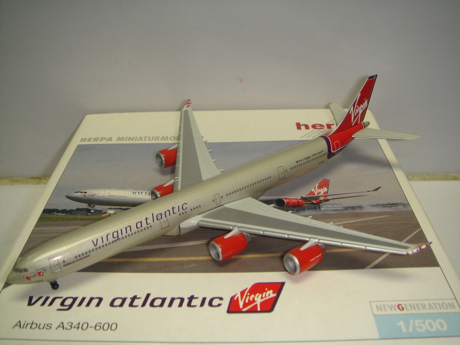 Herpa Wings 500 Virgin Atlantic Airways A340-600  2000s color - Cloud Nine  NG