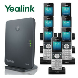 Details about Yealink W60P DECT IP Phone System Base w/ 7 Cordless Handsets  W60P + 6 W56H