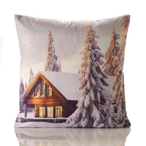 "18/""x 18/"", Navidad Supersoft de poliéster impresas Cushion Covers en 5 Diseños"