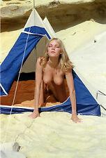 NU NUDE PHOTO FOTO 20x30CM REPRINT FROM 1970 SLIDE DIA BRIGITTE LAHAIE 13