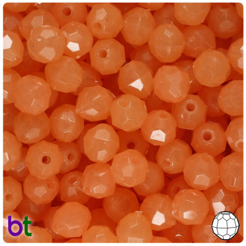 Color choice BeadTin Glow 10mm Faceted Round Plastic Craft Beads 210pcs