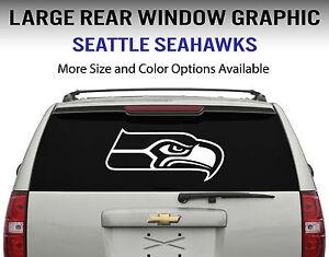 Seattle Seahawks Window Decal Graphic Sticker Car Truck SUV - Rear window stickers for trucks