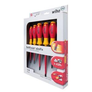 Wiha-6pc-SlimFix-Soft-Finish-Screwdriver-Set-1000V-VDE-Insulated-3201-K6