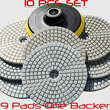 Stadea Wet Dry Diamond Polishing Pads 4'' Set For Granite Concrete Marble Polish