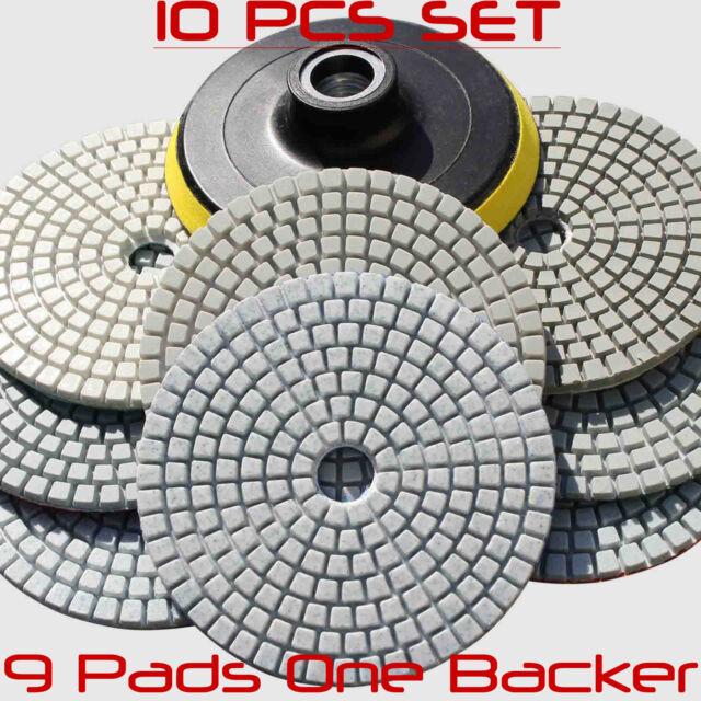 Wet Dry Diamond Polishing Pads 4 Inch Set Kit For Granite Concrete Marble Polish