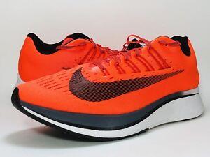 80e4c385645f4 Nike Zoom Fly Running Shoes Men's Size 12 Bright Crimson Neon Orange ...