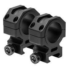 "NcSTAR VISM Tactical Series 30mm Aluminum Rail Mounted Scope Rings 1.1""H Black"